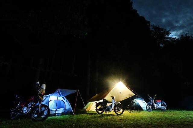 画像: ランタンで光るテントが好き。
