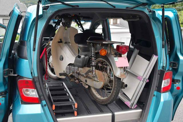 画像: スーパーカブを車に積んで旅に出たいから、ベストなランプ(ラダーレール)を探すんだけど、その前にアイテム紹介と注意事項。カブを車載するのだ準備編 - webオートバイ