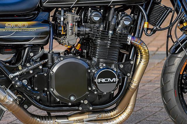 画像: エンジンはピスタル製φ76mmピストン(ストロークはノーマル66mm)で1197仕様に。クランクはフルリビルド後にバフ仕上げ、コンロッドは重量合わせ+WPC加工。シリンダーはESTライナーにしてボーリング&ホーニングと上面最小面研。クランクケースにもポンピングロス加工が行われる。ヘッドまわりもツインプラグ化してカムはWEB ST-1、バルブガイドを入れ替えた後にシートカット加工、PAMS HFバルブを組むなど、ライフを考慮しつつ元気な仕様としての最新パッケージで組まれる。