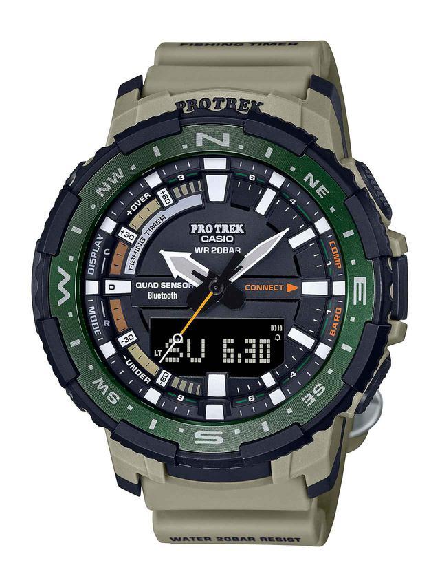 画像3: 「釣ーリング」を楽しむ人にぴったりな腕時計! プロトレックから冒険感満点の新製品「PRT-B70」が登場