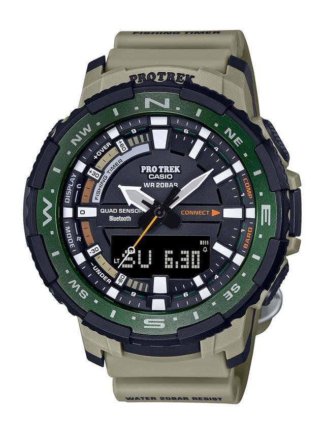 画像7: 「釣ーリング」を楽しむ人にぴったりな腕時計! プロトレックから冒険感満点の新製品「PRT-B70」が登場