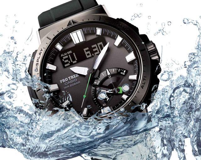 画像: 20気圧防水&アウトドアで役立つ機能が満載! プロトレックの新型ソーラー電波腕時計「PRW-70」 - webオートバイ