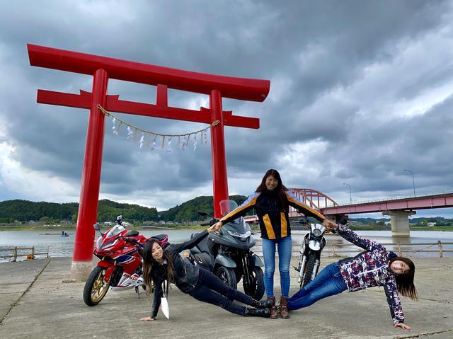 """画像2: <中間発表>みんなの投票で勝敗が決定!<バイク女子会""""biko"""" vs オートバイ女子部> ツーリングフォト対決!"""