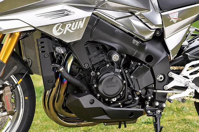 画像: エンジン/フレームはノーマルで、ラジエーターコアガードやフレームスライダーなどの必要最小限パーツのみが追加されている。