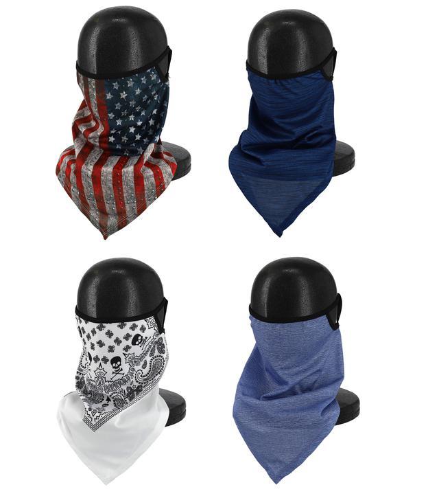 画像5: 冬のバイクにも咳エチケットにも役に立つ! 呼吸がしやすいバンダナ・フェイスマスクをライズが発売