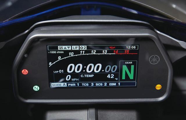 画像: すでに先進的だった多機能カラーTFTメーターは視認性の高いもの。ビッグマイナーチェンジを遂げた2020年モデルの電子制御メニューの追加に合わせて表示項目も追加された。