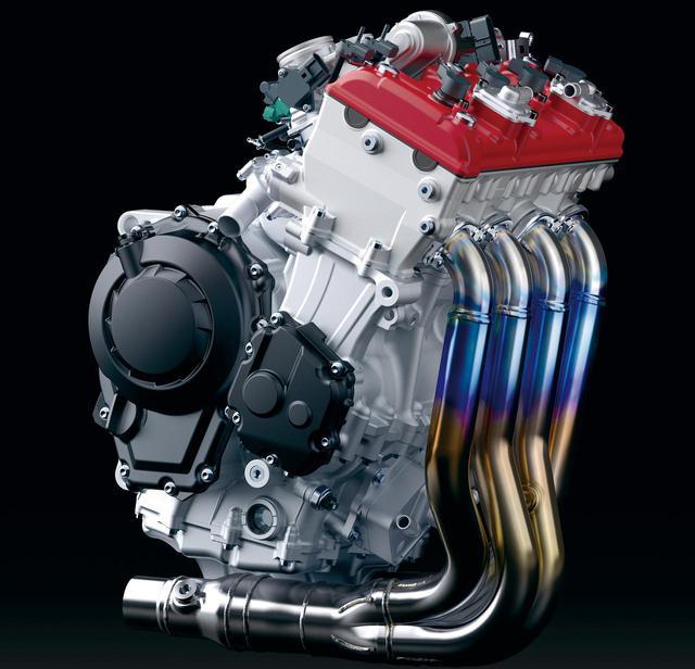 画像: 総排気量:998cc エンジン形式:水冷4ストDOHC4バルブ並列4気筒 最高出力:149kW(203PS)/13,500rpm ラムエア加圧時:156kW(212PS)/13,500rpm 最大トルク:114N・m(11.6kgf・m)/11,200rpm