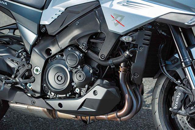 画像: GSX-Rベースのエンジンはストリート向けの出力特性に変更。エアクリーナーで吸気音のチューニングも行う。
