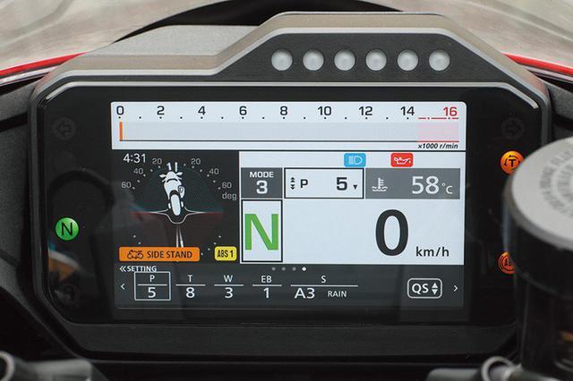 画像: 3種類のライディングモードを軸に、スイッチひとつで好みのセッティングを設定可能。SPは電子制御サスのセッティングも調整できる。