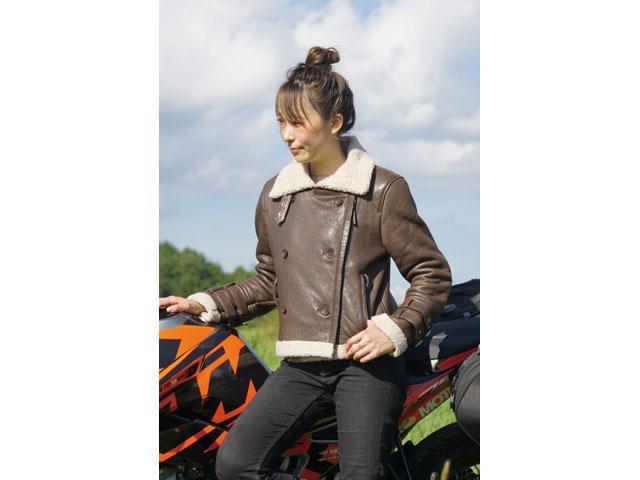 画像: レディースレザージャケット FR20WJ-10 価格…3万9000円(税抜) サイズ:S・M・L カラー:ブラック・ブラウン 素材:羊革・フェイクムートン