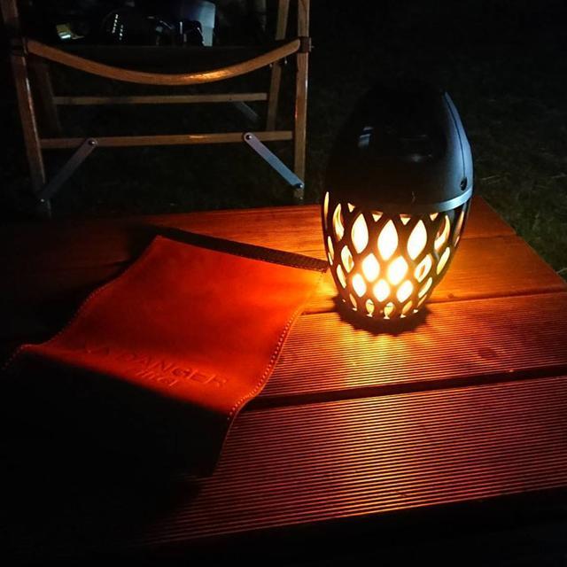 画像1: おしゃれなBluetoothスピーカー、ランタン機能はLEDが炎のように灯す