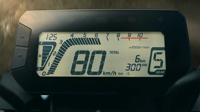 画像: メーターは燃費計やギアポジションインジケーターを搭載する多機能なものになりましたよ。