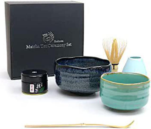 画像: 芳香園 茶道具 お抹茶6点セット (星野園製抹茶 抹茶茶碗 茶筅 茶筅くせ直し 茶杓 説明書) |Amazon