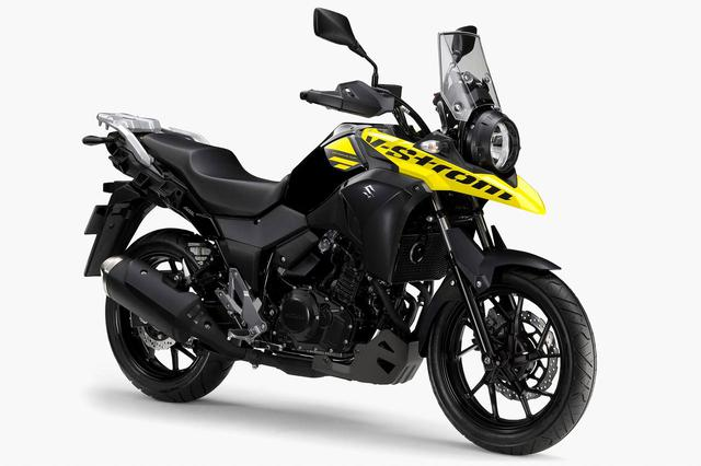 画像: Vストローム250 ABS カラー:パールネブラーブラック/ソリッドダズリンクールイエロー