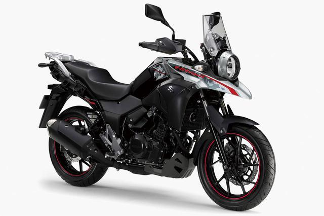 画像: Vストローム250 ABS カラー:パールネブラーブラック/ハイテックシルバーメタリック