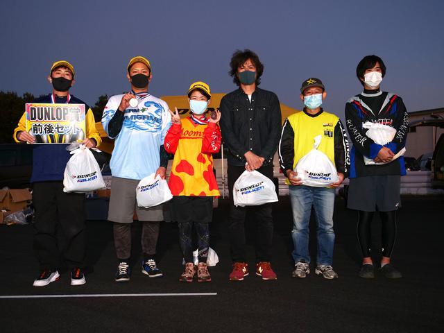 画像: 左から1位・明石昌和選手、2位・仲間忠治選手、3位・吉竹智美選手、4位・望月義司選手、5位・前園泰成選手、6位・板倉孝典選手
