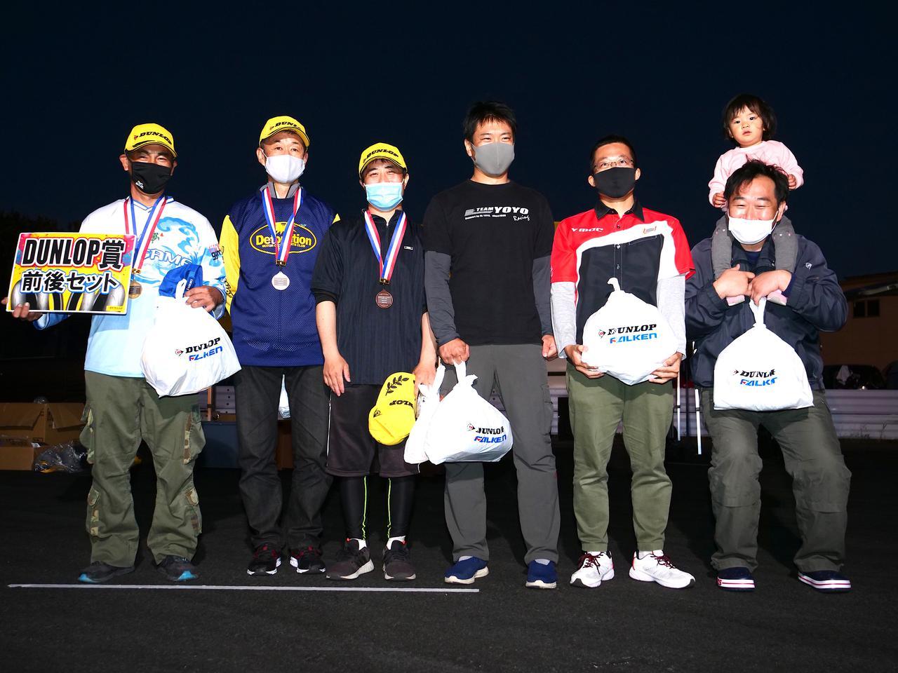 画像: 左から1位・辻家治彦選手(A級)、2位・菊谷宏威選手(A級)、3位・井川洋一選手(C1級)、4位・大瀧豊明選手(A級)、5位・関吉美智選手(A級)、6位・朝野功治選手(A級)