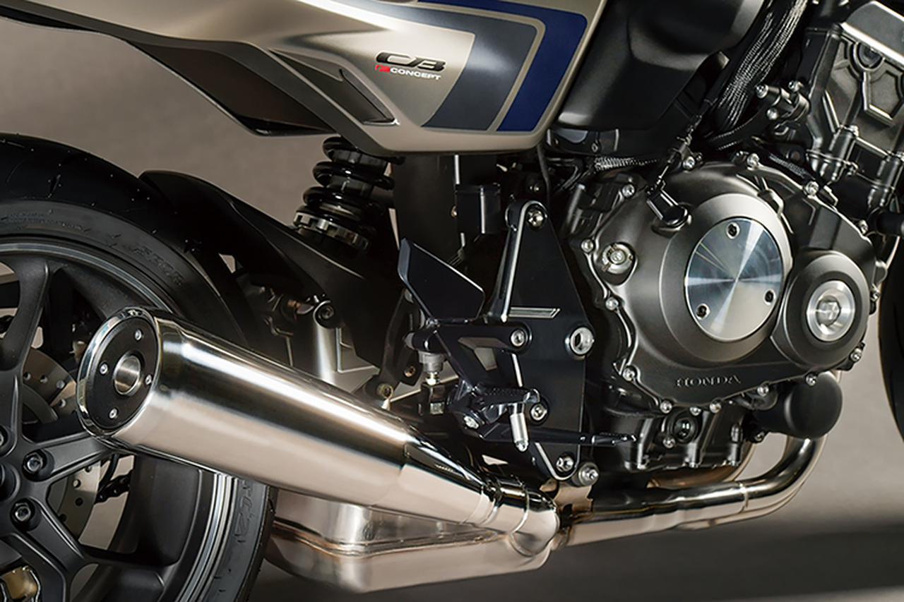 画像: 4-1のマフラーはサイレンサー部分をCB1000Rの変則断面からメガホン形状(AMAスーパーバイク用CB750Fに使われたベラスコ管が近いか)に変更。