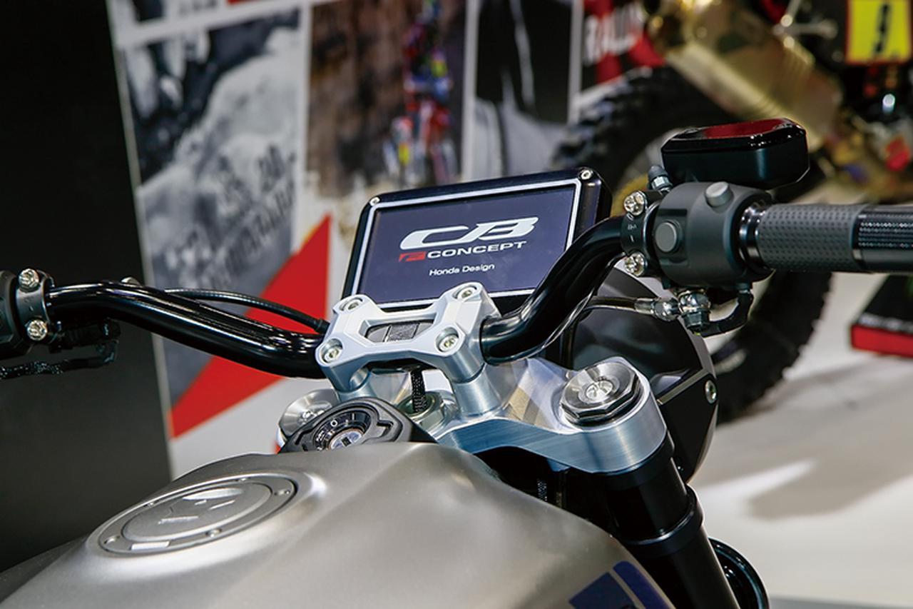 画像: 現代モデルらしくオールインワン・ワンパネルのデジタル多機能メーターをセット。ハンドルはバータイプを採用する。
