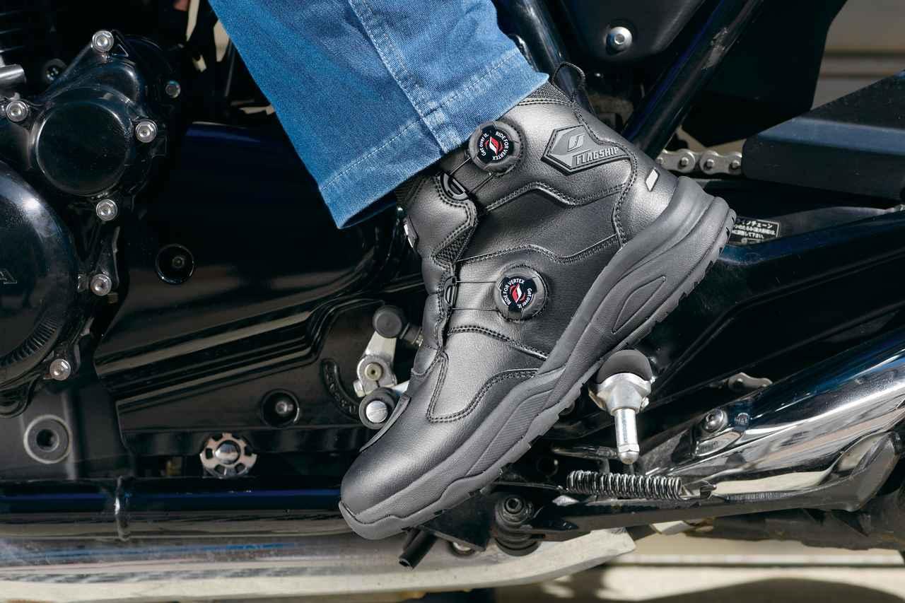 Images : 1番目の画像 - フラッグシップ「FSB-801 Voxarm Riding Shoes」 - webオートバイ