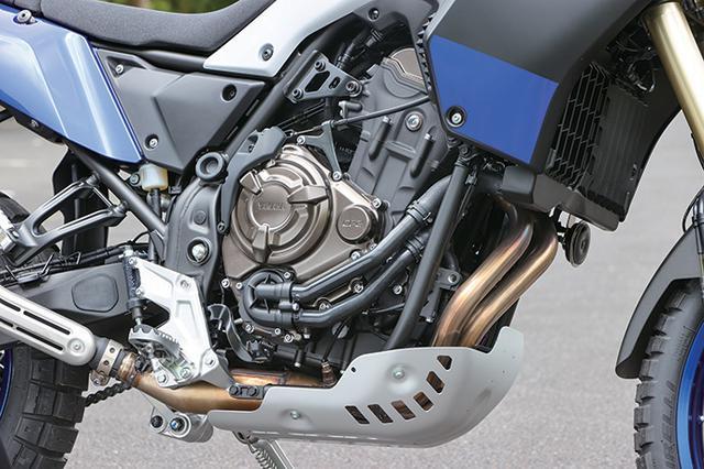 画像: クロスプレーン・コンセプトに基づいて270度クランクを採用、MT-07などにも搭載されてきた688㏄水冷並列ツインは最高出力72PSを発揮。