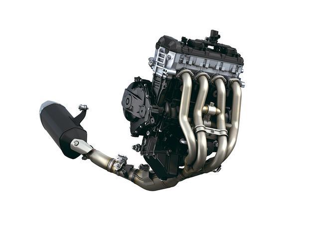 画像: バランサー非装備という硬派なエンジン。排気デバイスはエキパイとテールパイプにダブル装備し、ここでも低中高回転のパワーを両立。