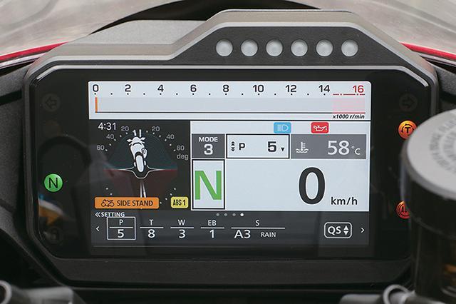 画像: メーターはフルカラー液晶で多彩な表示が可能。設定を操作する4WAYスイッチを左側ハウジングに新設。