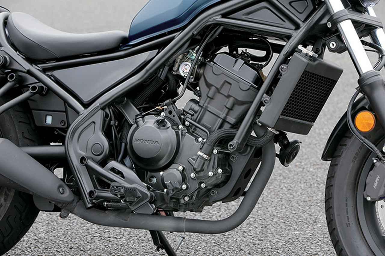 画像: エンジンはCBR250R系の水冷単気筒を採用。吸排気のセッティングの変更により、低回転の粘り強さを重視。