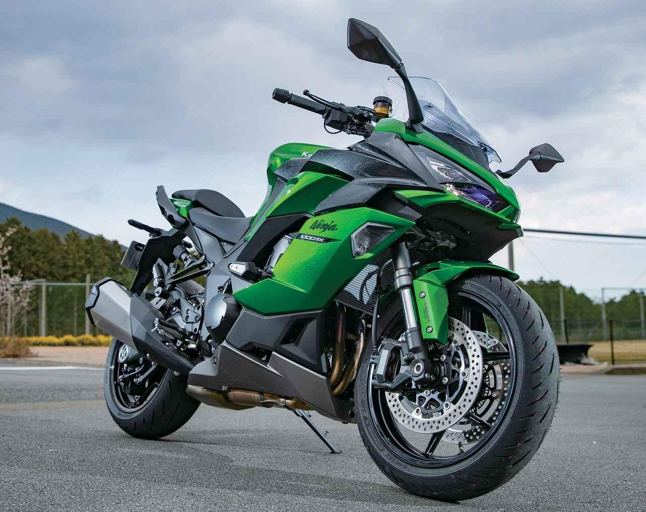 画像: Kawasaki Ninja 1000SX エンジン形式:水冷4ストDOHC4バルブ並列4気筒 総排気量:1043cc 最高出力:141PS/10000rpm 最大トルク:11.3kgf・m/8000rpm シート高:820mm 車両重量:236kg 燃料タンク容量:19L タイヤサイズ(前・後):120/70ZR17・190/50ZR17 メーカー希望小売価格:148万5000円(消費税10%込)