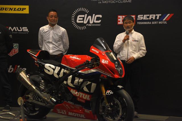 画像: ヨシムラのTOP2 左が加藤陽平監督(は日本での呼び名です)、右はヨシムラジャパン代表の吉村不二雄さん