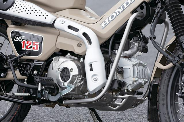 画像1: WAVE125系のエンジンはスーパーカブC125とは異なり、独自の吸排気系による低・中速域の力強さが特徴。排気音も太いものだ。