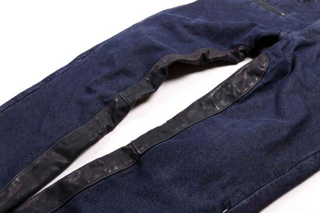 画像3: 冬のツーリングにも普段ばきにもぴったりな防寒ジーンズ! デグナー「牛革ヒートガード付き裏フリーズデニムパンツ」