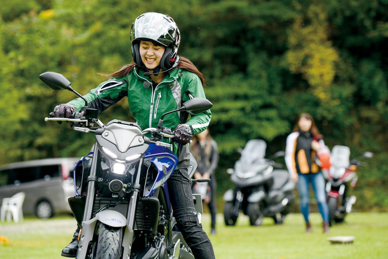 画像: バイク女子会bikoチーム 2人目(ときひろみ×MT-03)