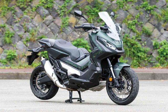画像: Honda X-ADV 総排気量:745cc エンジン形式:水冷4ストOHC4バルブ並列2気筒 シート高:790mm 車両重量:238kg メーカー希望小売価格(税込):126万3900円/グランプリレッドとマットアーマードグリーンメタリックは129万6900円