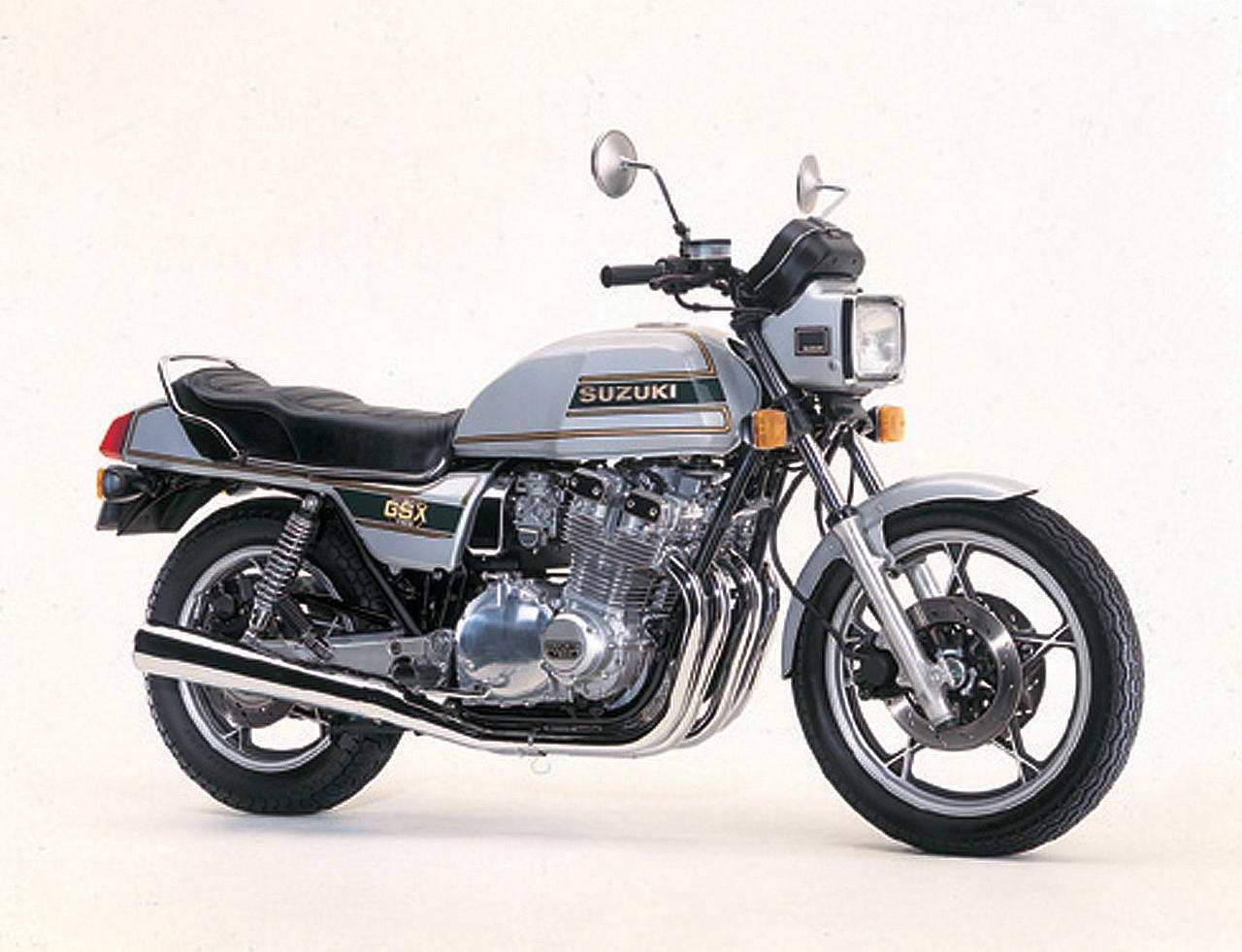 画像: GS1000の後継機として1980年に登場したGSX1100E。エンジンは1075ccにスケールアップされ、ヘッドは4バルブ化。燃焼効率を高めるTSCCを採用して105馬力をマークした。