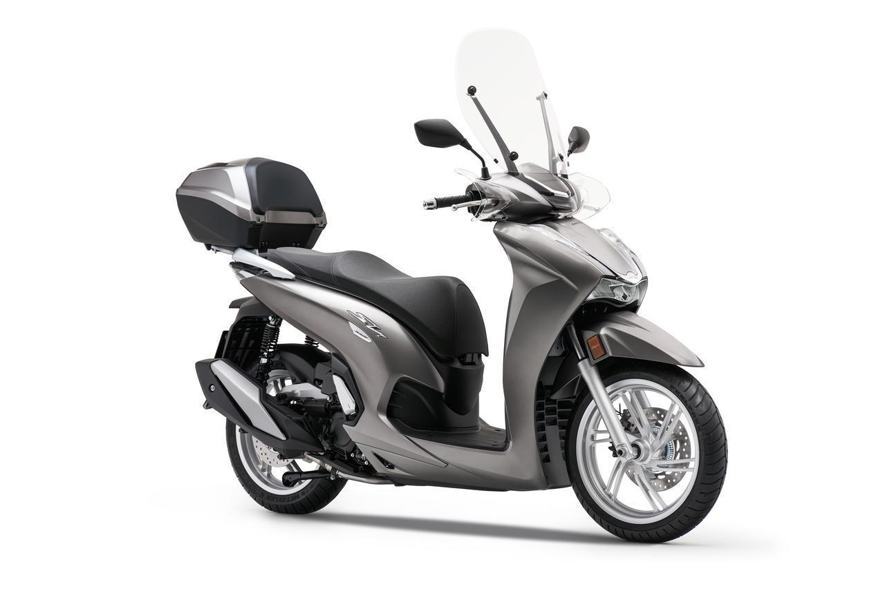 画像4: 【2021速報】ホンダが欧州で新型スクーター「SH350i」を発表! 50cc排気量アップ・シリーズ共通フェイスリフト・LCD多機能メーター採用などフルモデルチェンジ!
