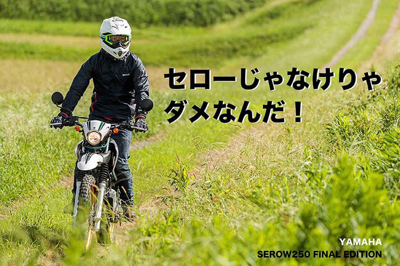 画像: セローじゃなけりゃ ダメなんだ! YAMAHA SEROW250 FINAL EDITION   WEB Mr.Bike
