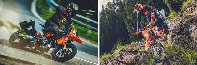 画像1: KTMの人気定番モデル「690エンデューロR」「690SMC R」の2021年モデルが姿を現した!【2021速報】