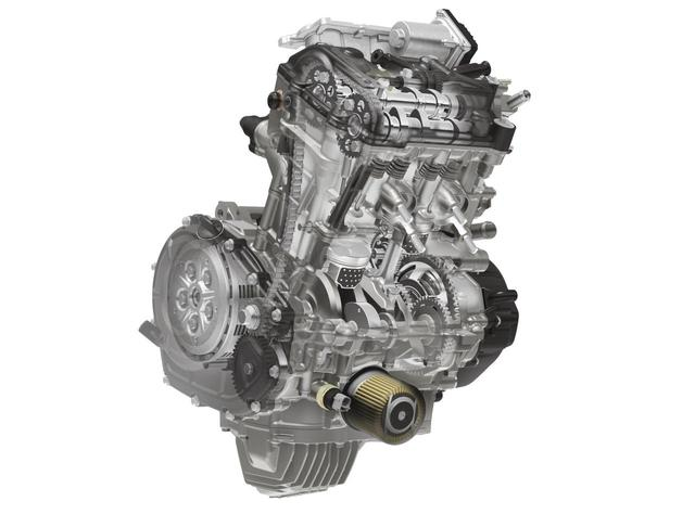 画像: ピストン、シリンダー、コンロッド、バランスシャフトなどを見直したエンジンは、3PSアップという以上にパワフルさを体感できる。