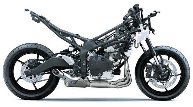 画像: 車体ディメンションはスーパーバイク世界選手権のチャンピオンマシン、ZX-10Rレーサーのものを参考にしており、スポーツポテンシャルの高さはお墨付き。