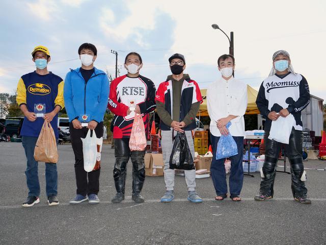 画像: C1級入賞者 左から1位・吉田篤司選手、2位・地下和宏選手、3位・福澤公之選手、4位・白川晋也選手、5位・坂本和信選手、6位・井原英樹選手