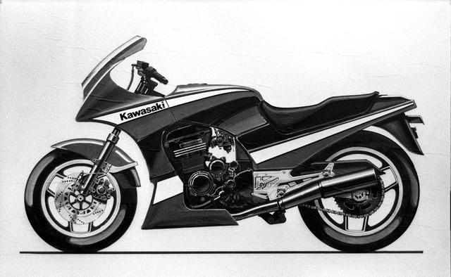 画像: ファイナルスケッチで、フルカウルを装着しながらエンジンを見せる造形を目指していたのがよくわかる。