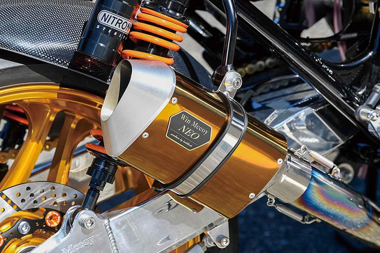画像: 排気はZ系に最適化したフルチタン4-1エキゾーストのWin Mccoy NEOで、ここではショートサイレンサー仕様をチョイス。