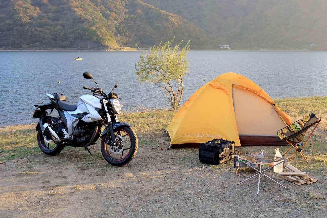 画像: 10月末、西野は富士五湖の西湖でキャンプしてきました。平日にも関わらず人手は予想以上。ソロキャンパーも多かったです。