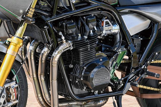 画像: エンジンは空冷のKZ1000フルリビルドを搭載。現在ではカスタム化され、ハイカムやフルリビルドクランク、6速クロスミッションを投入、1200cc化もなされている。燃料供給はA16スタートエディションから装備されるフューエルインジェクションをそのまま使用する。