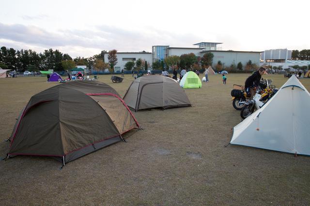 画像: 桜エビ餃子を食べてキャンプ場に到着。