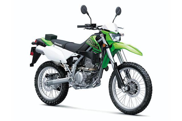 画像: Kawasaki KLX300 (米国仕様) 総排気量:292cc エンジン形式:水冷4ストDOHC単気筒 シート高:約894mm 車両重量:約137kg