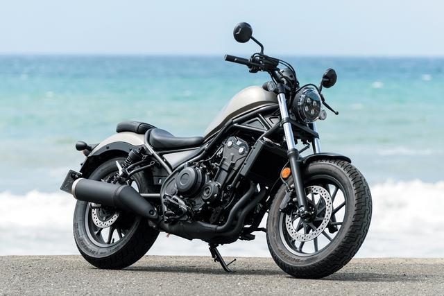 画像: Honda Rebel 500 総排気量:471cc エンジン形式:水冷4ストDOHC4バルブ直列2気筒 シート高:690mm 車両重量:190kg メーカー希望小売価格:79万9700円(消費税10%込)