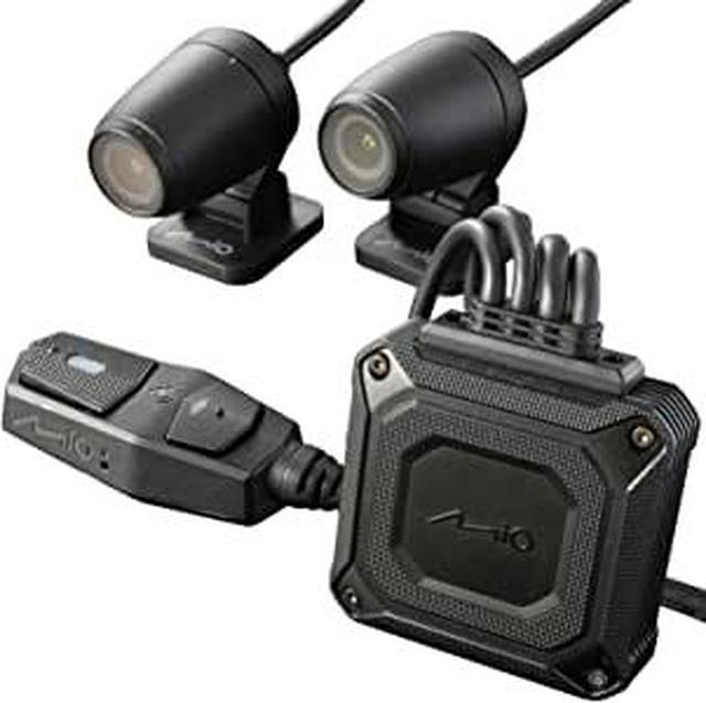 画像1: 【 M760D 】Amazonでもお買い求めいただけます。 | デイトナ Mio(ミオ) バイク用 ドライブレコーダー 前後2カメラ 200万画素 フルHD 防水 防塵 LED信号 Gセンサー GPS MiVue M760D 17100