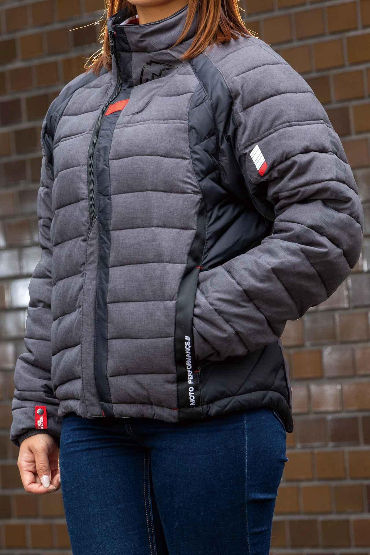 画像: 付属のインナージャケットは左右ポケットと裾アジャスターも装備し、単体でも着用できるデザイン。ポリエステル製なので家庭で洗濯できる。